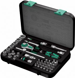 "Wera 05003535001 8100 SA 4 41 Piece 1/4"" Drive Zyklop Imperial Socket Set"